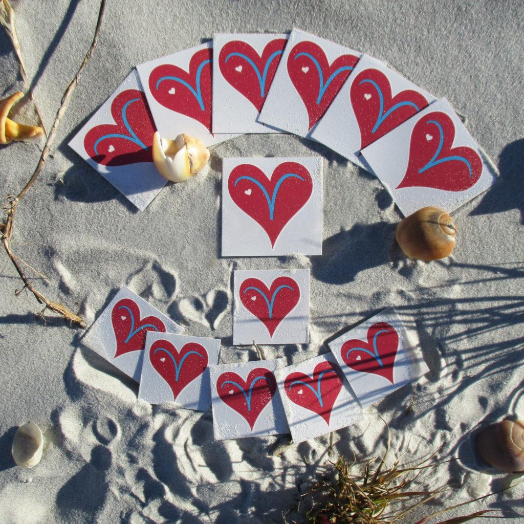 Vicki's Heart Temp Tattoo