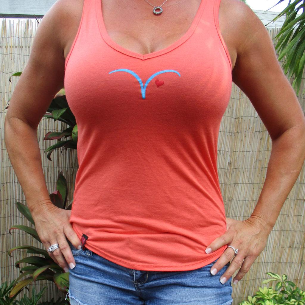 Vicki's V-neck Tank Top-coral