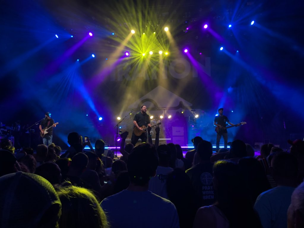 The Reggae rock band Iration performing in St Augustine